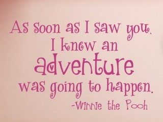 Pink-Winnie-the-Pooh-Quotes-Wall-Art-in-Kids-Bedroom-Ideas